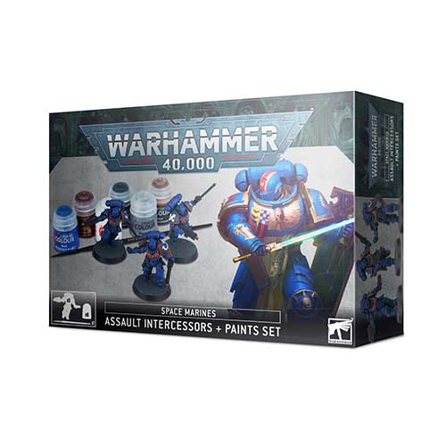 Space Marines Assault Intercessor + Paint Set