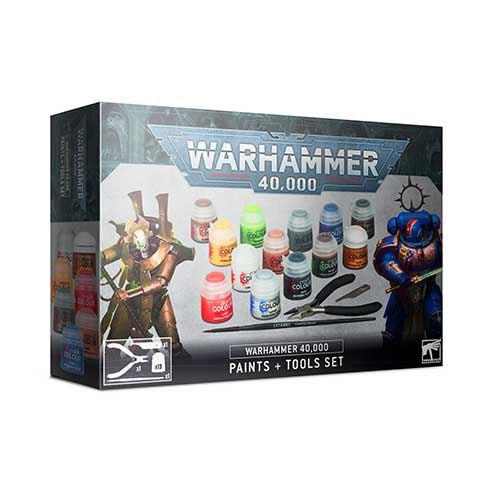 Pre-Order Warhammer 40,000 Paints + Tools Set
