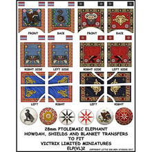Carthaginian War Elephant, Ptolomeic shield, howdah and blanket transfers